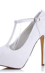 Homme-Mariage / Habillé / Soirée & Evénement-Blanc-Talon Aiguille-A Plateau-Chaussures à Talons-Soie / Tulle