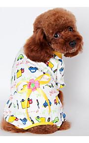 Собаки Инвентарь / Пижамы Желтый / Синий / Розовый Одежда для собак Зима / Весна/осень Цветы Сохраняет тепло /