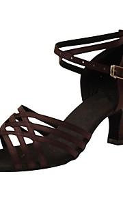 Sapatos de Dança(Marrom) -Feminino-Personalizável-Latina / Salsa