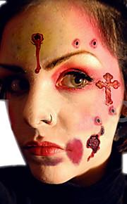 2pcs Wound/Scab/Blood Halloween Scar Tattoos Temporary Tattoos Sticker Waterproof