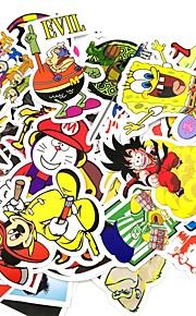 ziqiao 50 stuks / pak willekeurige stickers auto styling grappig auto sticker doodle motorfiets reizen fiets doodle