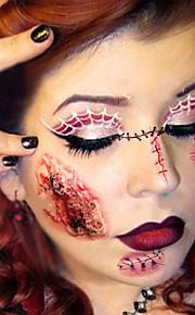 2pcs Halloween Blood Body Scab Fancy Dress Scar Tattoos Zombie Cuts Slash Makeup
