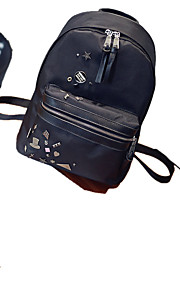 Women Nylon Casual / Outdoor / Shopping Backpack Black