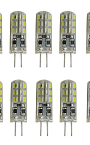2 G4 LED à Double Broches Tube 24 SMD 3014 144 lm Blanc Chaud / Blanc Froid Décorative DC 12 V 10 pièces