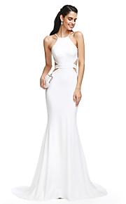 2017 ts couture® balen formell klänning trumpet / sjöjungfrun axelband domstol tåg jersey med skärp / band