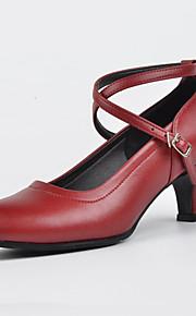 Sapatos de Dança(Preto / Vermelho / Prateado) -Feminino-Não Personalizável-Tênis de Dança