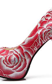 Homme-Mariage / Habillé / Soirée & Evénement-Noir / Rouge / Blanc-Talon Aiguille-Talons / A Plateau / Bout Arrondi-Chaussures à Talons-