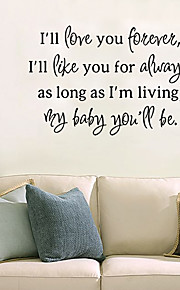Love Words & Quotes Wall Stickers Plane Wall Stickers Decorative Wall Stickersvinyl Material Removable Home Decoration Wall Decal