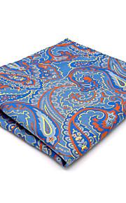For Men Pocket Square Mens Handkerchief Hanky  Blue Paisley Wedding Business