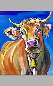 Håndmalte Abstrakt / Dyr olje~~POS=TRUNC malerier~~POS=HEADCOMP,Moderne Et Panel Lerret Hang malte oljemaleri For Hjem Dekor