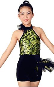 Dresses Performance Spandex / Paillettes / Lace / Ruffles / Sequins 2 Pieces Ballet Sleeveless NaturalDress / Hair