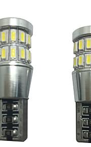 2stk 12v 6w t10 førte kan-bus lampe førte readling lampe førte nummerplade lampe