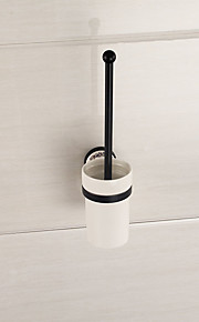 espelho polido acabamento acessórios do banheiro latão titular escova de vaso sanitário de material