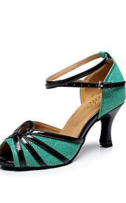 Zapatos de baile(Rosa) -Latino-Personalizables-Tacón Stiletto