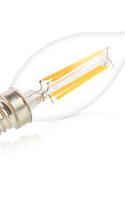 6W E14 Ampoules à Filament LED CA35 6 COB 550LM lm Blanc Chaud / Blanc Froid Gradable / Décorative V 1 pièce