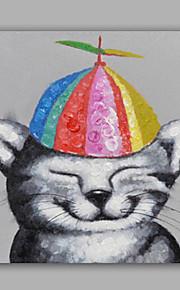 Maalattu Abstrakti / Eläin öljymaalauksia,Moderni / Classic 1 paneeli Kanvas Hang-Painted öljymaalaus For Kodinsisustus