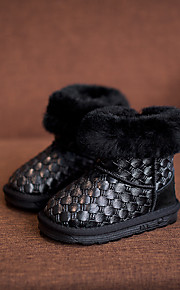 Girl's Boots Comfort Leatherette Casual Black Gray