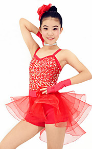 Dresses Performance Spandex / Organza /  Paillettes / Flower(s) / Ruffles / Sequins 6 Pieces Ballet Sleeveless Natural