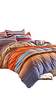 Floral Duvet Cover Sets 4 Piece Cotton Pattern Quilted Cotton Queen / King 1pc Duvet Cover / 2pcs Shams / 1pc Flat Sheet