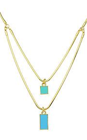Modische Halsketten Ohne Stein Anhängerketten Schmuck Alltag / Normal Modisch Aleación Goldfarben 1 Stück Geschenk