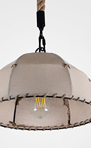 40w Pendant Light ,  Retro / Country Painting Feature for Designers FabricLiving Room / Bedroom / Dining Room / Kitchen / Study