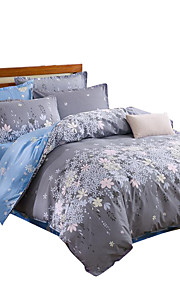 Mingjie  Wonderful Blue and Purple Flowers Bedding Sets 4PCS for Twin Full Queen King Size from China Contian 1 Duvet Cover 1 Flatsheet 2 Pillowcases