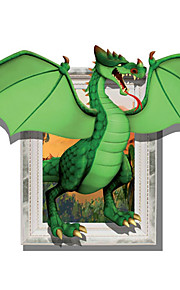 3D Wall Stickers Grazing Dragon Hole PVC Material Decorative Skin Wall Stickers