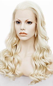 IMSTYLE 24''Beautiful Heat Resistant 613 Blonde Long Wave Synthetic Lace Front Wig
