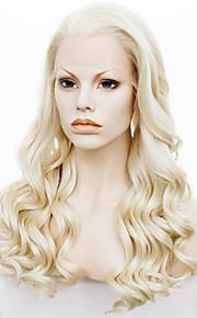 imstyle 24''beautiful varmebestandig 613 blonde langbølget syntetisk blonder foran parykk