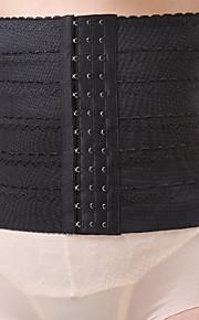 Damen Unterbrustkorsett Nachtwäsche,Sexy einfarbig-Nylon Mittelmäßig Schwarz Damen