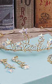 Women's Rhinestone / Alloy Headpiece-Wedding / Special Occasion / Casual Tiaras 3 Pieces