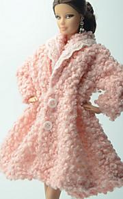 Hverdagslig Mer Tilbehør Til Barbie Doll Rosa Ensfarget Jakke