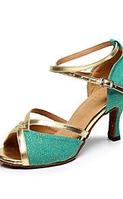 Zapatos de baile(Azul / Verde) -Latino-Personalizables-Tacón Stiletto