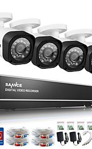 sannce 4ch 720p ahd dvr hdmi 4 stuks 720p ir nachtzicht outdoor cctv camera binnenlandse veiligheid systeem van toezicht kits