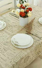Rectangular Patterned Table Cloth , Linen / Cotton Blend MaterialHotel Dining Table / Wedding Banquet Dinner / Table Decoration /