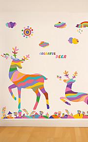 Dyr / Jul Wall Stickers Fly vægklistermærker Dekorative Mur Klistermærker,pvc Materiale Kan fjernes Hjem Dekor Veggoverføringsbilde