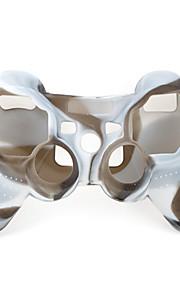 Schutz-Dual-Colour-Stil Silikon-Hülle für PS3 Controller (braun und weiß)