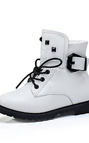 Girl's Boots Others Leather Casual Black Red White