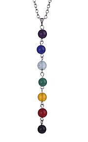 Colliers Tendance Topaze Pendentif de collier Bijoux Soirée Anniversaire Quotidien Décontracté Forme Ovale euroaméricains Alliage 1pc