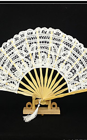 "Fans and parasols-# Piece/Set Hand Fans White Black 11"" high × 19 1/2"" in diameter (28cm high×50cm in diameter)11"" high × 2"" in diameter"