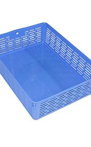 כחול מינימליסטי A4 קובץ תיבת אופנת קובץ סל פלסטיק למשרד שולחן העבודה