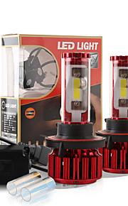 2017 nye H13 120W 10000LM cob chip førte forlygte konvertering kit 2 farver 5000K Yale gul 6000K hvid pærer lampe par