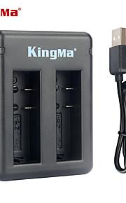 Kingma bm037 dual-slot batterioplader til Xiaomi Xiaoyi og az16-1 batteri --black