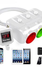 høj kvalitet 3 i 1 cigarettænder strømadapterstik splitter 3.1a 12v-24v usb bil oplader til iphone ipad bil dvr gps