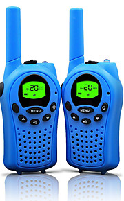 walkie talkies til børn 22 kanaler og holdbart (op til 5 kilometer i åbne områder) farverige walkie talkies til børn (1 par) t668