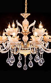 5 Lustre ,  Traditionnel/Classique Rétro Doré Fonctionnalité for Cristal LED MétalSalle de séjour Chambre à coucher Salle à manger