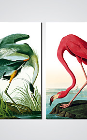 Modern Wall Art Crane Picture Canvas Print Art 2pcs/set for Bedroom Decoration Ready to Hang