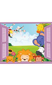 Tiere Mode 3D Wand-Sticker Flugzeug-Wand Sticker 3D Wand Sticker Dekorative Wand Sticker,Vinyl Stoff Haus Dekoration Wandtattoo