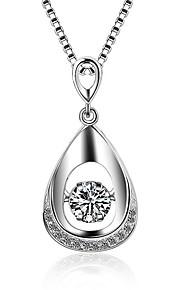 Colliers Tendance Pendentif de collier Bijoux Occasion spéciale Quotidien Décontracté Regalos de Navidad Forme Ovale AdorableZircon
