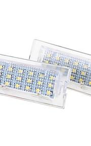 2 x hvid 18 førte nummer nummerplade-lygter lampe pære til bmw E53 x5 1999-2006